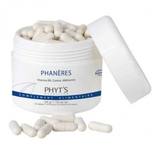 Phyt`s PHANÈRES ХРАНИТЕЛНА ДОБАВКА ЗА КОСА И НОКТИ 80 капсули