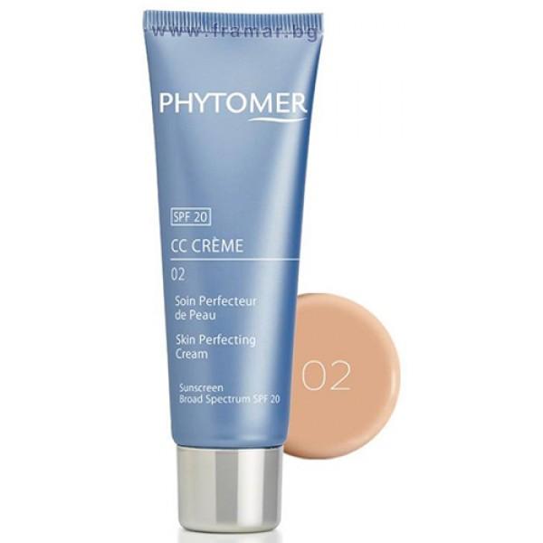 PHYTOMER  CC Крем за сияйна кожа Средно тъмен цвят Cc Crème Skin Perfecting 02 50мл