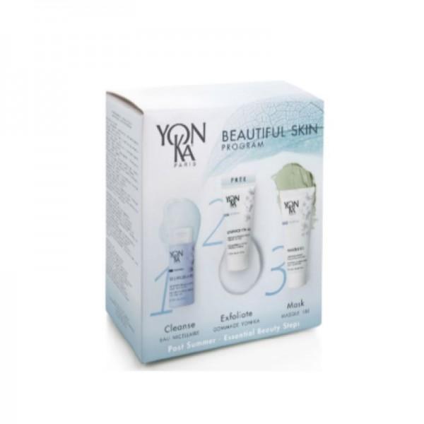 Yon Ka  ПРОМО! Комплект за цялостно възобновяване на кожата след лятото за суха и чувствителна кожа Yon-Ka с подарък Ексфолиант за лице Yon-Ka Gommage